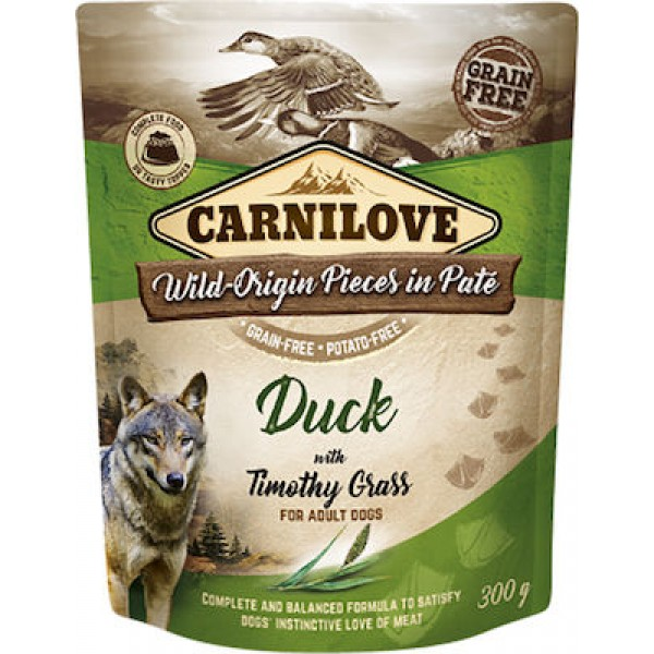 CARNILOVE DUCK WITH TIMOTHY GRASS 300gr CARNILOVE